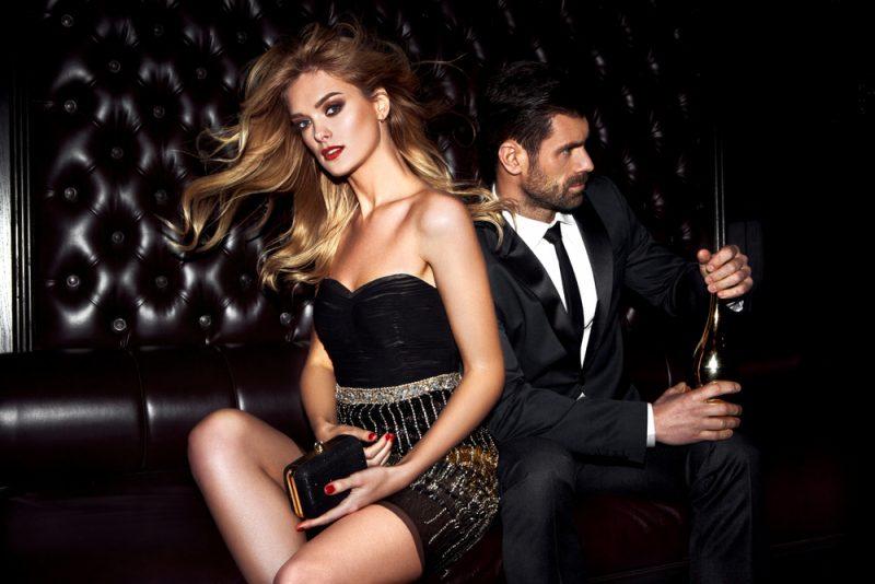 las vegas model in night club